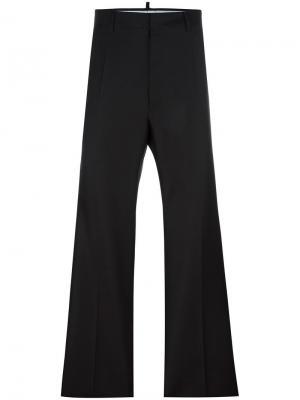 Классические широкие брюки Dsquared2. Цвет: чёрный
