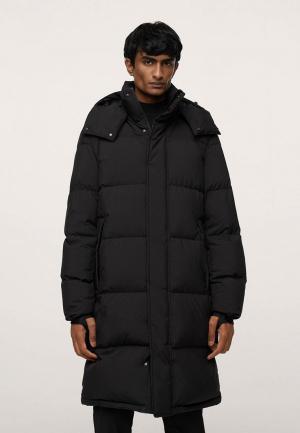 Куртка утепленная Mango Man. Цвет: черный