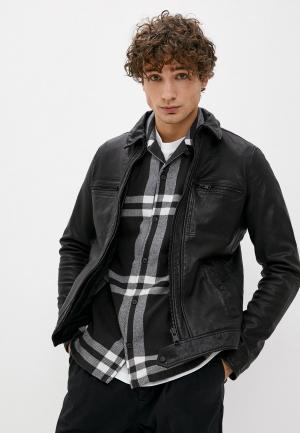 Куртка кожаная AllSaints. Цвет: черный