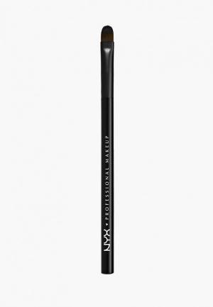 Кисть для глаз Nyx Professional Makeup. Цвет: черный