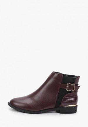 Ботинки Dorothy Perkins. Цвет: бордовый