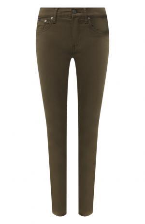 Однотонные джинсы-скинни Polo Ralph Lauren. Цвет: хаки