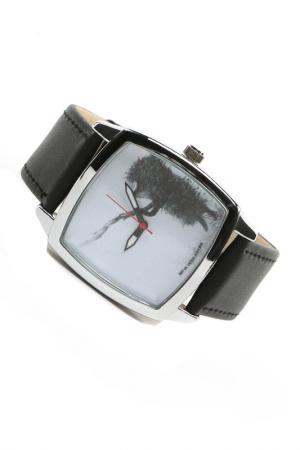 Часы Ежик с веточкой MITYA VESELKOV. Цвет: черный