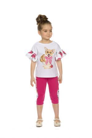 Комплект: футболка, бриджи Pelican. Цвет: белый(2)