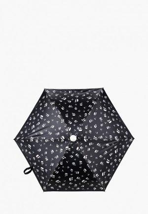 Зонт складной Karl Lagerfeld. Цвет: черный