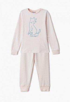 Пижама OVS. Цвет: розовый