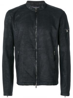 Куртка на молнии John Varvatos. Цвет: чёрный
