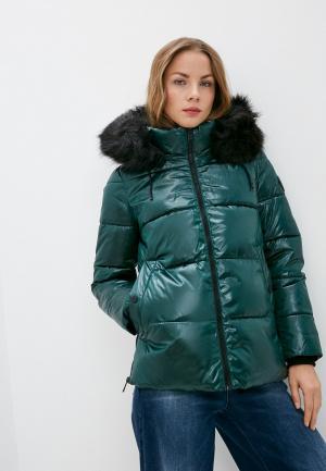 Куртка утепленная DKNY. Цвет: зеленый