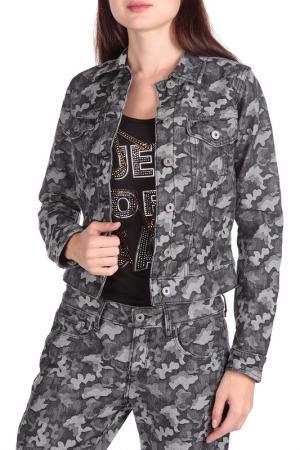 Джинсовая куртка FREESOUL. Цвет: серый