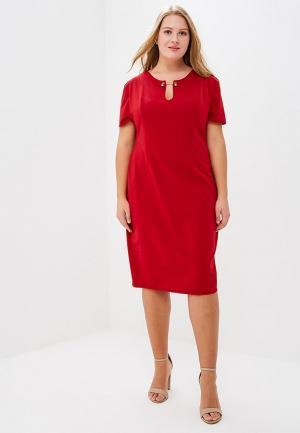 Платье Goddiva Size Plus. Цвет: бордовый