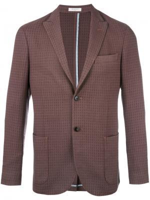 Пиджак в клетку Boglioli. Цвет: коричневый