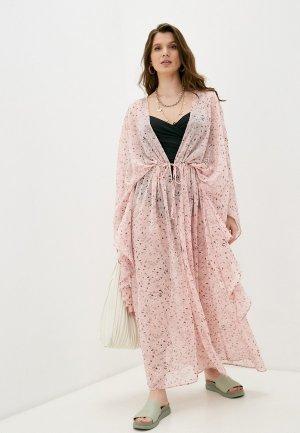 Туника пляжная TrendyAngel. Цвет: розовый