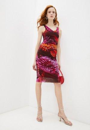 Платье Fuzzi. Цвет: разноцветный
