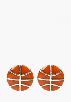 Серьги Jenavi. Цвет: оранжевый