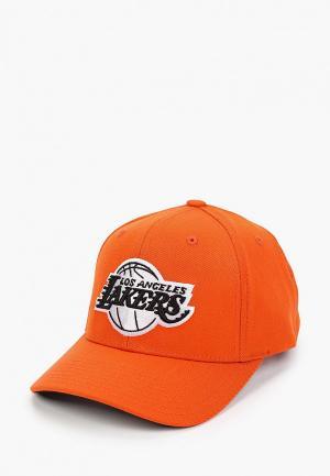 Бейсболка Mitchell & Ness. Цвет: оранжевый