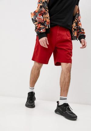 Шорты джинсовые Bikkembergs. Цвет: красный