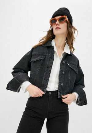 Куртка джинсовая Bimba Y Lola. Цвет: черный