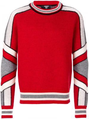 Свитер в хоккейном стиле Dsquared2. Цвет: красный