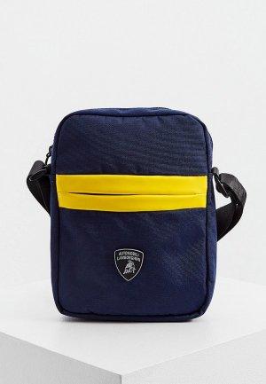 Сумка Automobili Lamborghini. Цвет: синий