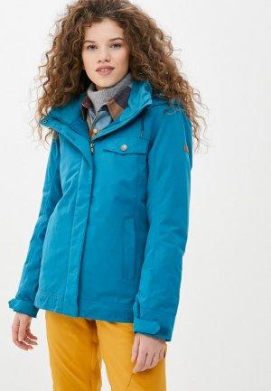Куртка сноубордическая Roxy. Цвет: бирюзовый