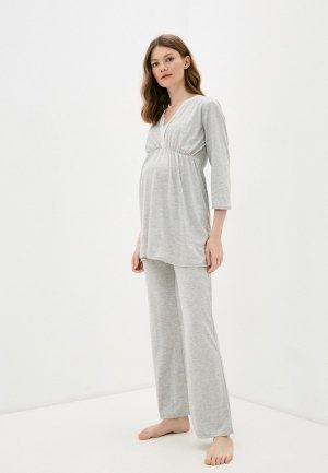Пижама Envie de Fraise. Цвет: серый