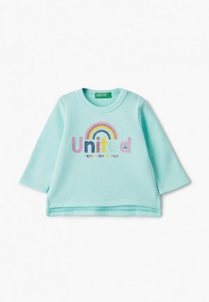 Свитшот United Colors of Benetton. Цвет: бирюзовый