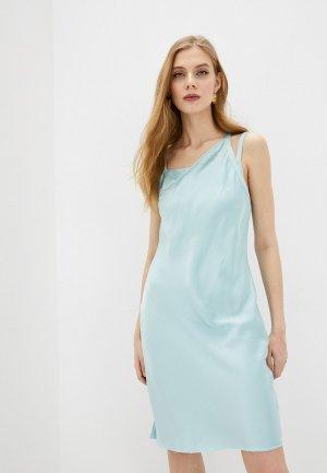 Платье Helmut Lang. Цвет: голубой