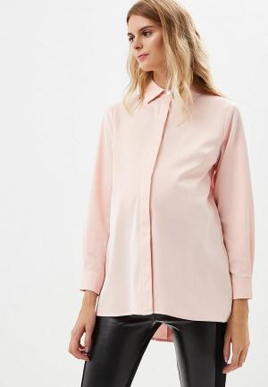 Блуза MammySize. Цвет: розовый