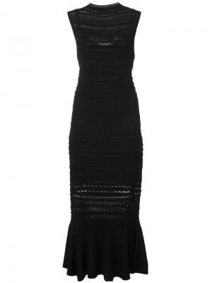 Платье Rilla с расклешенным подолом Alexis. Цвет: чёрный
