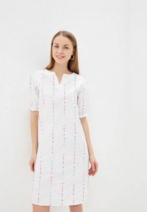 Платье UNQ. Цвет: белый