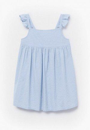 Сарафан Mango Kids. Цвет: голубой