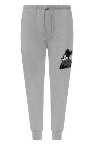 Хлопковые джоггеры с карманами Dom Rebel. Цвет: серый