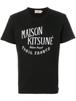 Футболка с принтом логотипа Maison Kitsuné. Цвет: чёрный