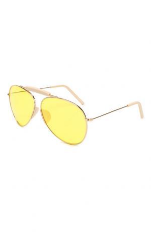 Солнцезащитные очки Acne Studios. Цвет: желтый