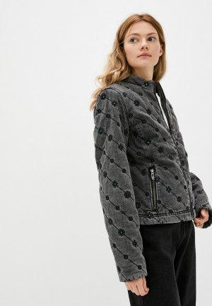 Куртка джинсовая Desigual. Цвет: серый