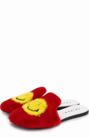 Текстильные сабо Smile с носками в комплекте Joshua Sanders. Цвет: красный