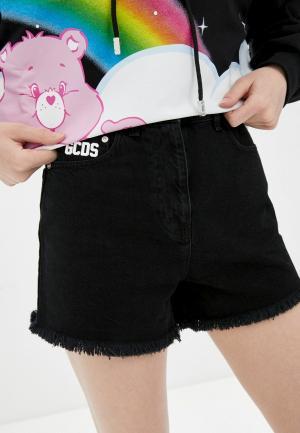 Шорты джинсовые GCDS. Цвет: черный