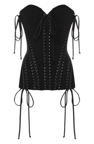 Топ-бюстье со шнуровкой Dolce & Gabbana. Цвет: черный