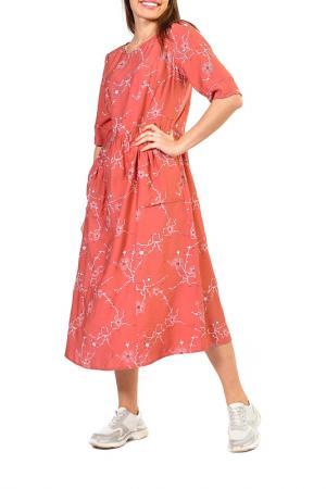 Платье FORUS. Цвет: терракотовый