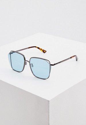 Очки солнцезащитные McQ Alexander McQueen. Цвет: бирюзовый