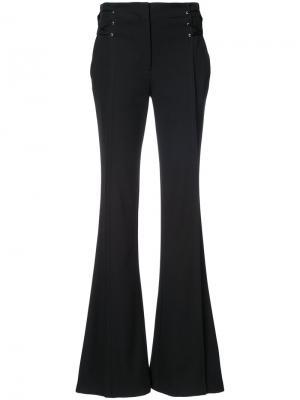 Слегка расклешенные брюки со шнуровкой Jason Wu. Цвет: чёрный