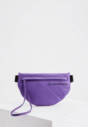 Сумка поясная MM6 Maison Margiela. Цвет: фиолетовый