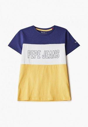 Футболка Pepe Jeans. Цвет: разноцветный
