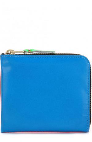 Кожаное портмоне на молнии с отделением для монет Comme des Garcons. Цвет: оранжевый