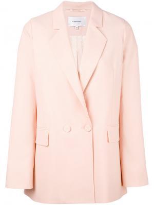 Пиджак мешковатого кроя Carven. Цвет: розовый и фиолетовый