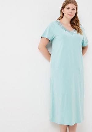 Сорочка ночная Evans. Цвет: бирюзовый