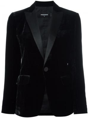 Бархатный блейзер Tuxedo Dsquared2. Цвет: чёрный