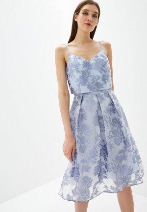 Платье Dorothy Perkins Curve. Цвет: голубой