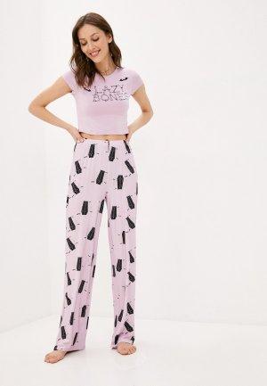 Пижама Missguided. Цвет: фиолетовый