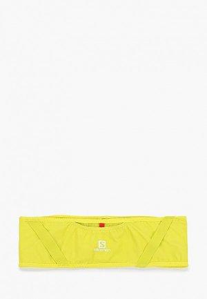 Пояс для бега Salomon. Цвет: желтый